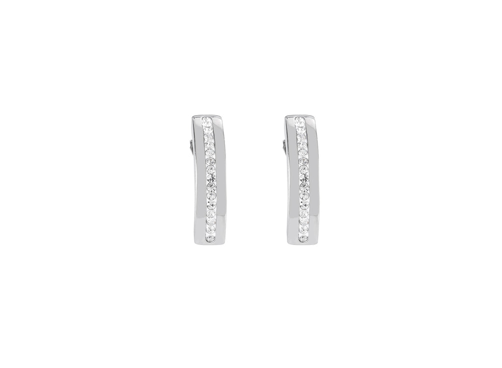Stainless Steel Pavé Set Earrings 0126_1800