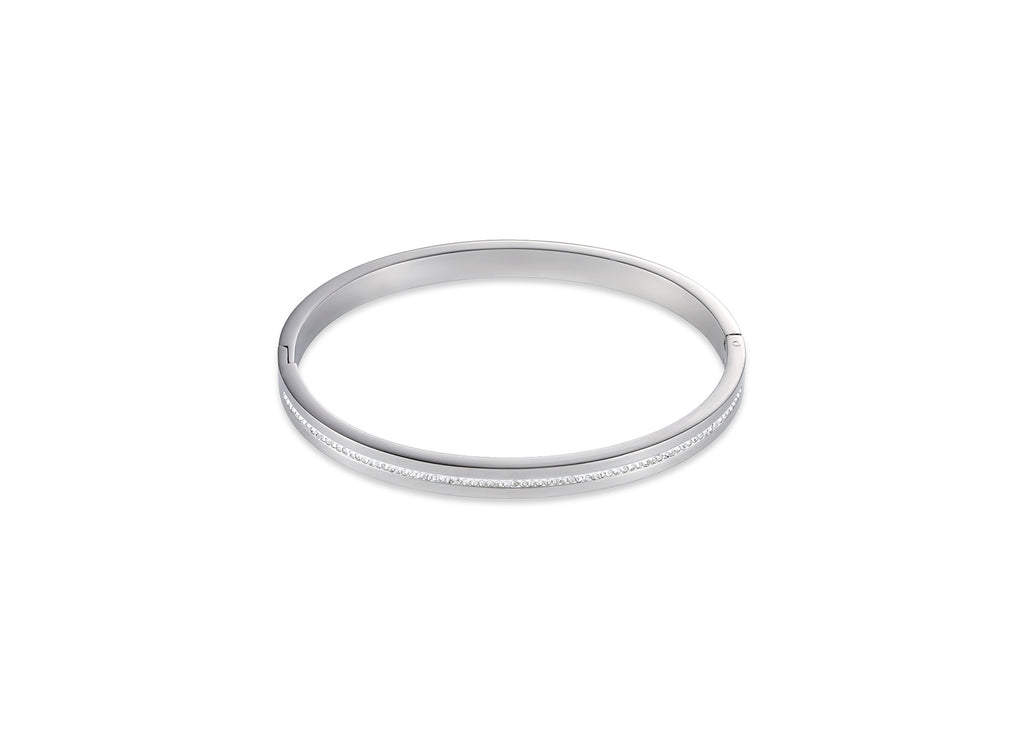 White crystal bangle stainless steel 0126_1800