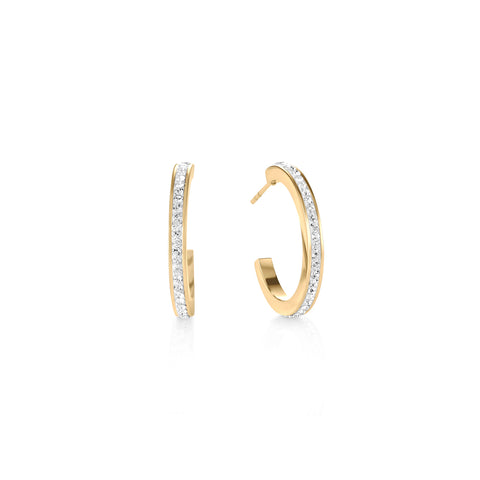Hoop Gold & Crystal Pavé Earrings 0139_1816