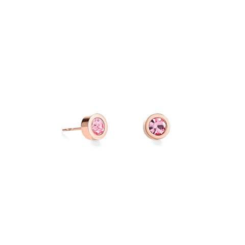 Stud Earrings with Crystals 0228 - 8 colours