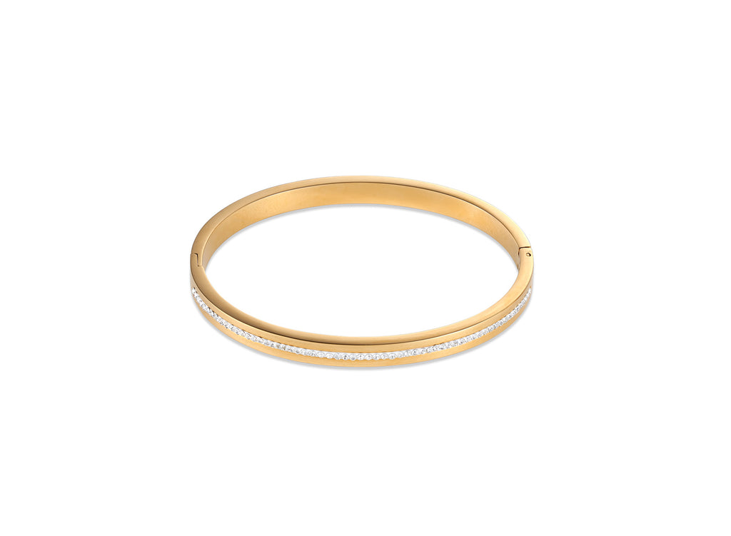White crystal bangle gold 0326_1800