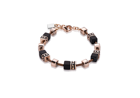 Geo Cube onyx and rose gold 4015_1328
