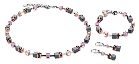 Geo Cube haematite rose gold and pink 4015_1900