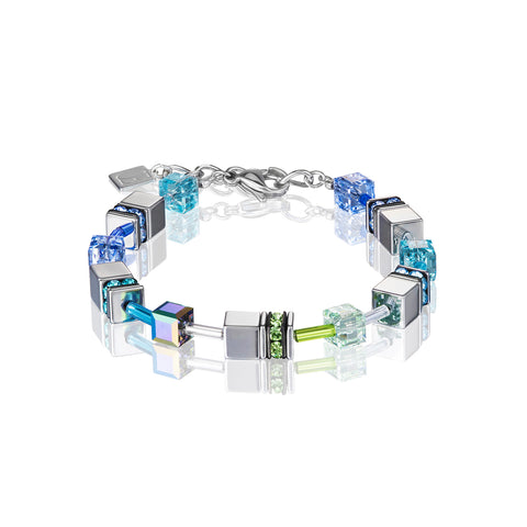 Geo Cube silver & cool blue 4015_0705