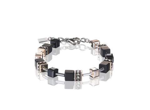 Geo Cube rose gold and onyx 4018_1300