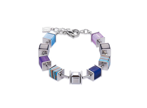 Geo Cube Swarovski® Crystals, malachite, turquoise and purple 4747_0708