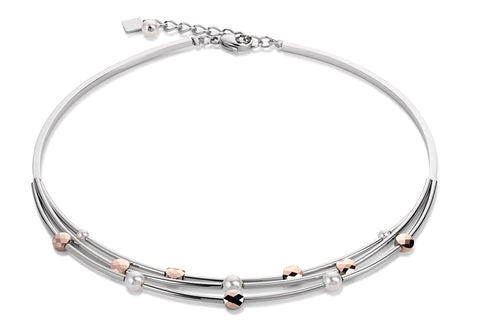 Swarovski pearls triple strand rose gold 4761_1620