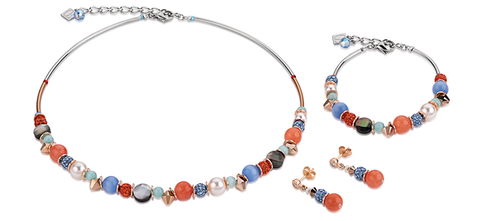 Swarovski pearls rock crystal orange blue 4864_2002