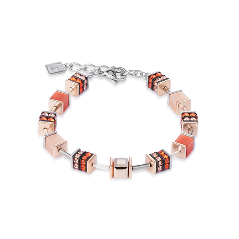 Geo Cube elegant orange & rose gold 4928_0200