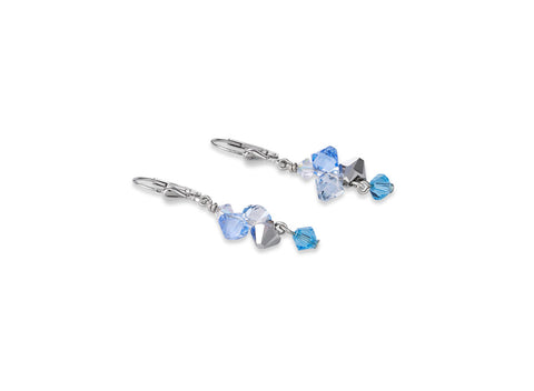 Turquoise & blue crystal & rose gold 4938_0720