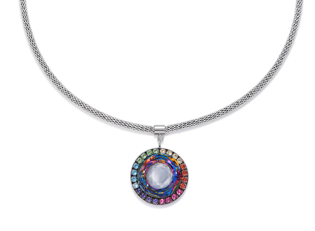 Swarovski hand worked glass pendant iridescent multicolour 4941_1522