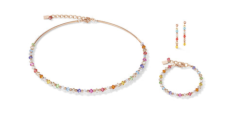 Soft Rainbow Swarovski® Crystals & Rose Gold 4948_1522
