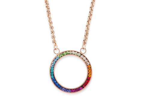 Swarovski multi coloured circle pendant 4957_1500