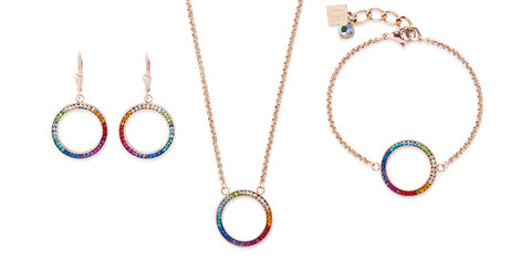 Crystal multi coloured circle pendant 4957_1500