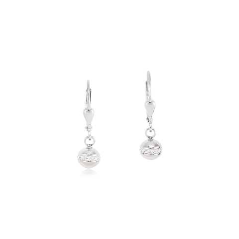 Stainless steel sphere earring 4971/20-1700