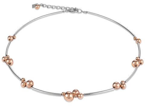 Rose Gold spheres & stainless steel 4983_1631