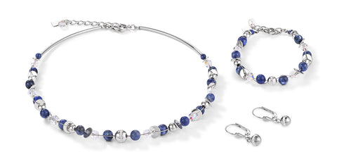 Twisted Style Stainless Steel Natural Sodalite 4993_0700