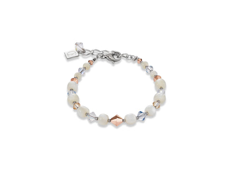 Champagne, White & Rose gold with M-O-P 4987_1628