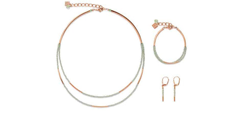 Mint green & rose gold dual strand 4998_0520