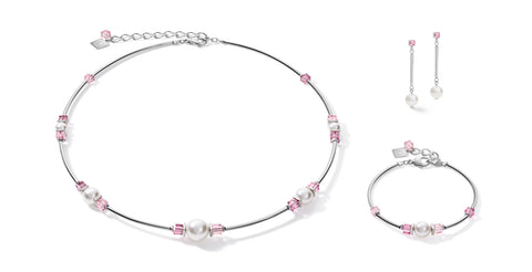 Soft Pink & Swarovski® Pearl on stainless steel 5046_1900