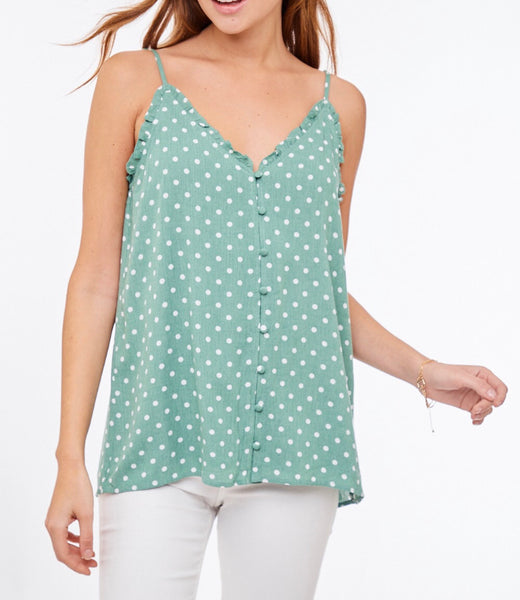 #10 Polka Dot Top - SAGE