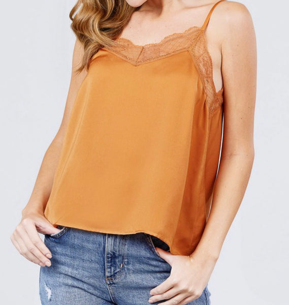 #2350 Silk Lace Pumpkin Cami