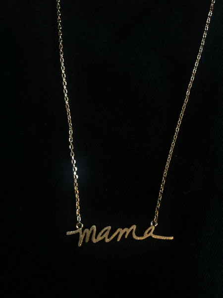 #1351 MAMA Necklace - Gold
