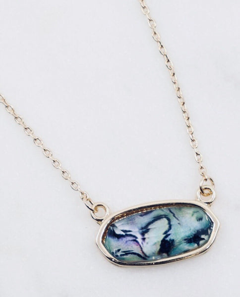 #413 Abalone Mini Necklace