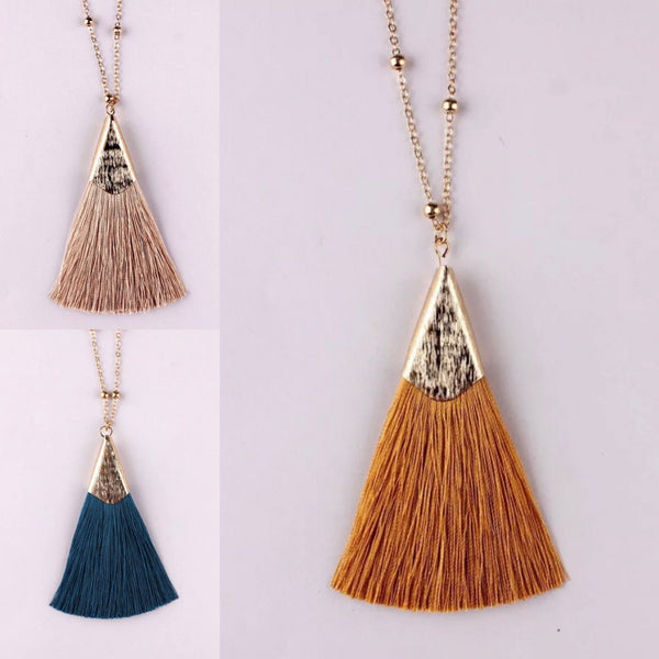 Autumn Fringe Necklace