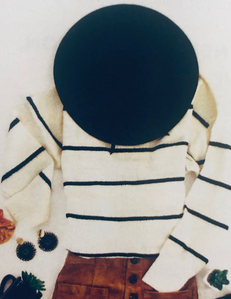 Ivory & Black Stripe Sweater