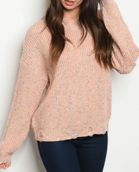 #784 Blush Confetti Sweater