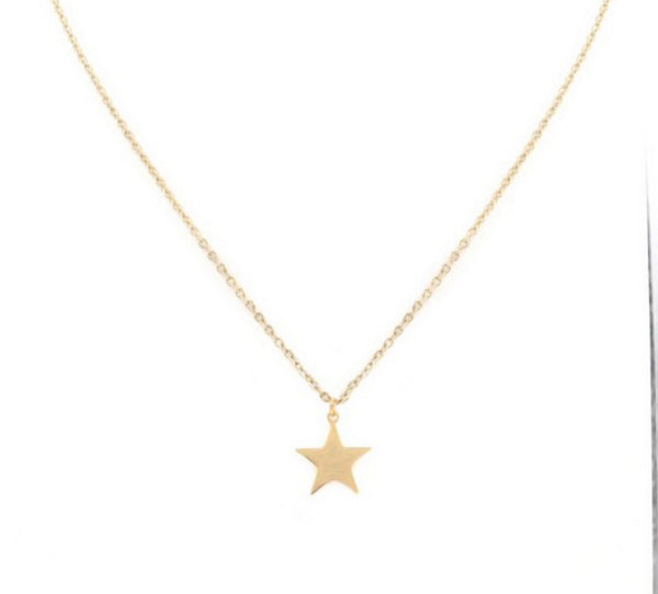 #1345 Star Necklace - Gold