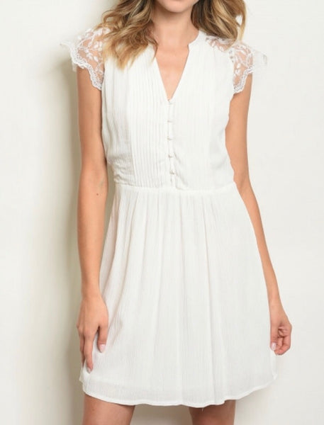 #404 Ivory Dreamy Lace Dress