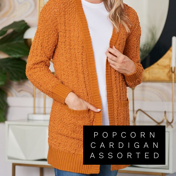 Popcorn Cardigan Assorted Color
