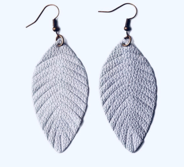 #607 Silver Feather Earrings