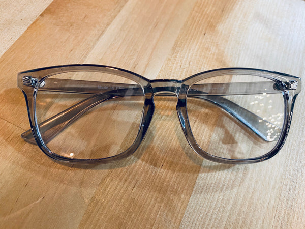 #2034 Gray Blue Light Glasses With Case