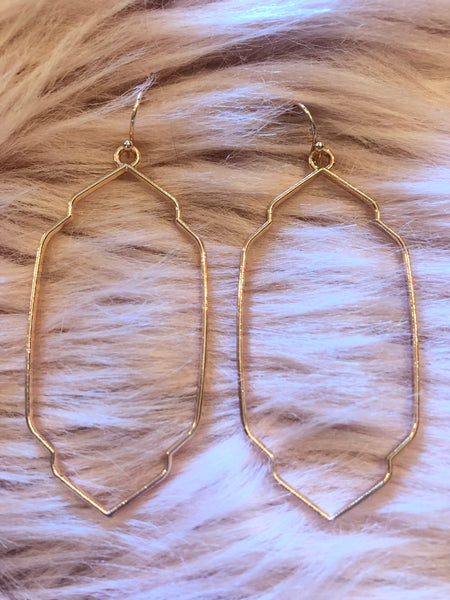 #1402 Rose Gold Geometric Earrings