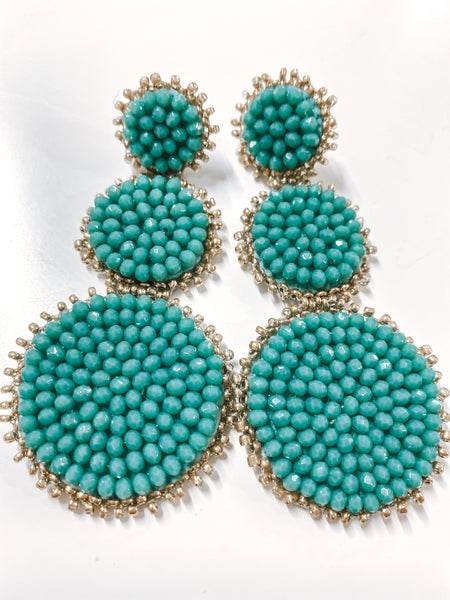 #1943 Nile River Statement Earrings