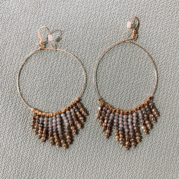 #2247 Delectable Earrings - Slate Blue