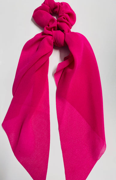 #1753 Fuchsia Hair Scarf Scrunchie
