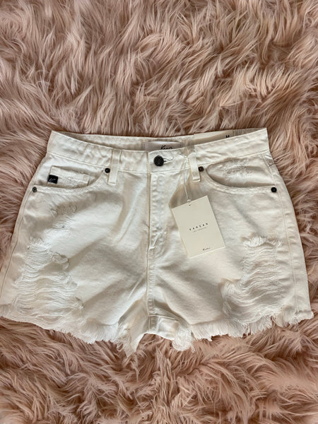 #1735 White Kancan Shorts