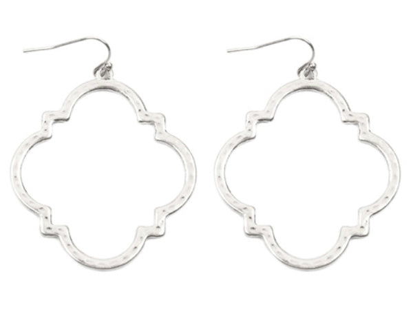 #1300 - Hammered Silver Earrings