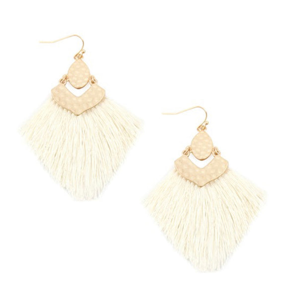 #971 Creamsicle Tassel Earrings