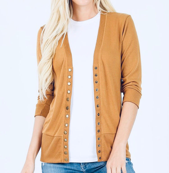 #624 Gold Snap Cardigan