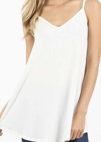 976 Ivory Reversible Cami