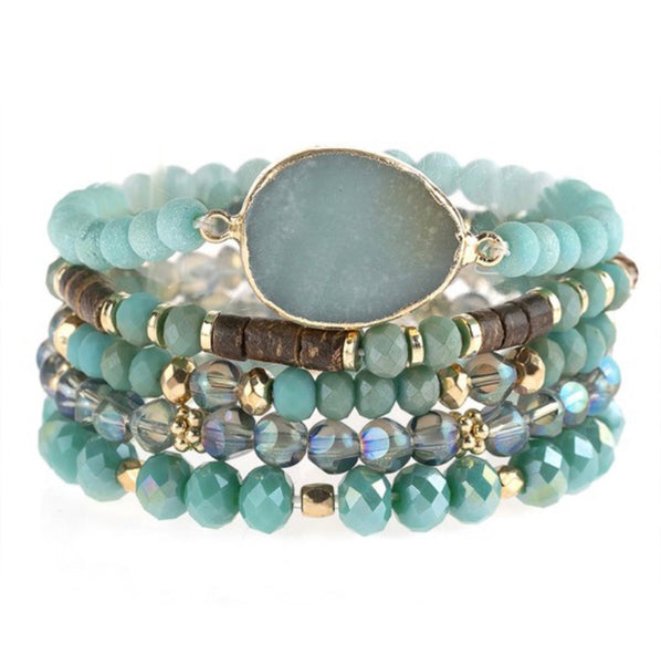 #1051 Mint & Teal Set Bracelets