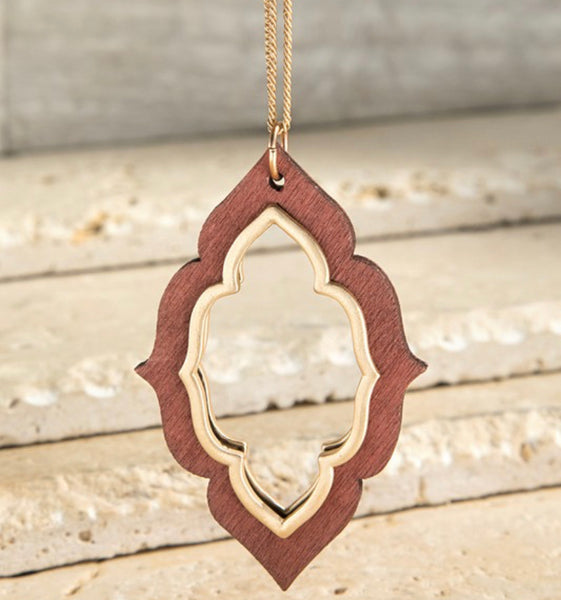 #2117 Natural Wood Long Necklace