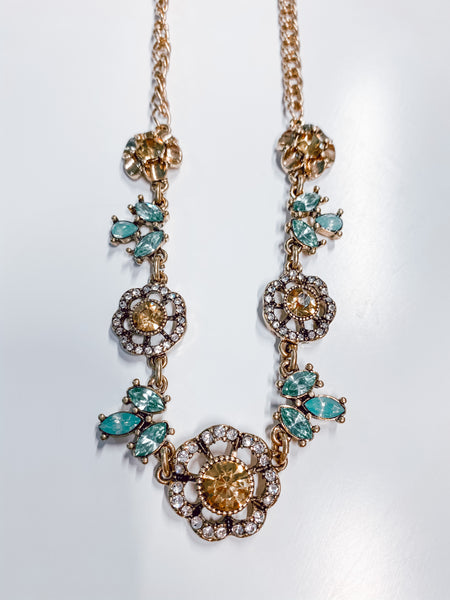 #1983 - Topaz and Sage Autumn Necklace
