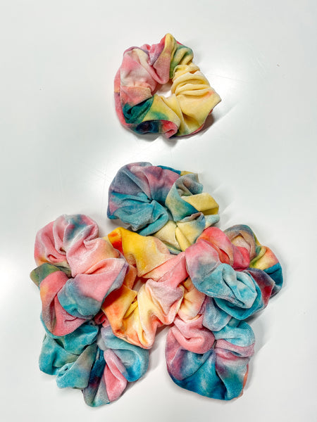 Tie Dye Multi Neon Scrunchie - 1 Piece