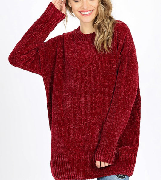 Cabernet Chenille Sweater
